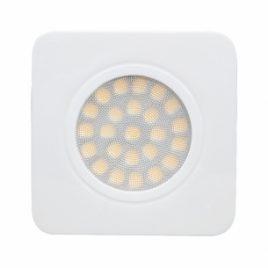 Мебелна LED луна за вграждане квадрат бяла, 12V/DC, 4200K, IP44, 3W