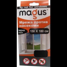 Магнитна мрежа срещу насекоми, 1.5м х 1.8м, черна, Магус