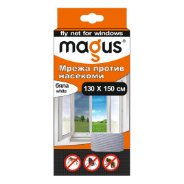 Магнитна мрежа срещу насекоми, 1.3м х 1.5м, бяла, Магус