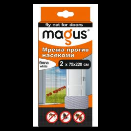 Мрежа срещу насекоми за врати, 1.4м х 2.2м, бяла, Магус