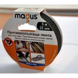 Противоплъзгаща самозалепваща лента MAGUS™, черна, 18м/19мм