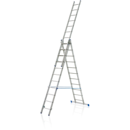 VHR-H 3х10. Професионална алуминиева стълба до 150кг,  3х10 стъпала