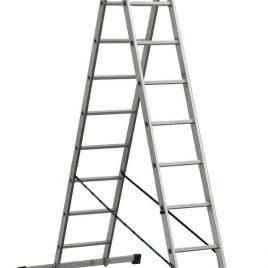 VHR-H 2х11. Професионална двураменна алуминиева стълба до 150кг,  2х11 стъпала