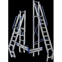 TOR 705. Алуминиева подвижна платформа с рампа и перила 4+1