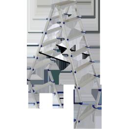 DHR 402. Обикновена алуминиева стълба до 150кг,  2 стъпала