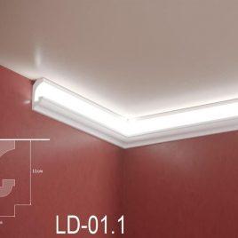 LD-01.1. Декоративен XPS корниз за LED осветление, 110х45мм, 2м