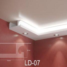 LD-07. Декоративен XPS корниз за LED осветление, 185х87мм, 2м
