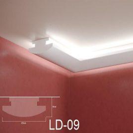 LD-09. Декоративен XPS корниз за LED осветление, 190х90мм, 2м