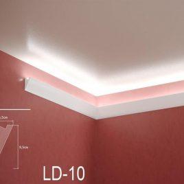 LD-10. Декоративен XPS корниз за LED осветление, 95х45мм, 2м