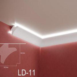 LD-11. Декоративен XPS корниз за LED осветление, 105х105мм, 2м