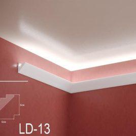 LD-13. Декоративен XPS корниз за LED осветление, 60х60мм, 2м