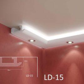 LD-15. Декоративен XPS корниз за LED осветление, 180х65мм, 2м