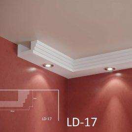 LD-17. Декоративен XPS корниз за LED осветление, 160х80мм, 2м