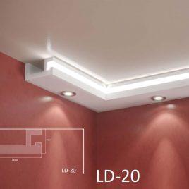 LD-20. Декоративен XPS корниз за LED осветление, 160х80мм, 2м