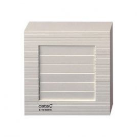 Вентилатор за баня с клапа B 10 MATIC, ф100, 98 m³/h, 15 W, 41 db, бял, CATA