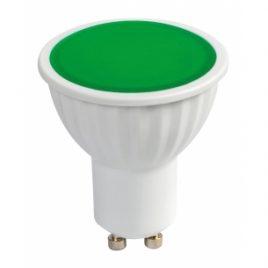LED луничка, GU10, 220V AC, 5W, зелена светлина