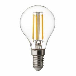 LED крушка FILAMENT, топче, димираща, прозрачна, E14, 220V, 4200K, 4W