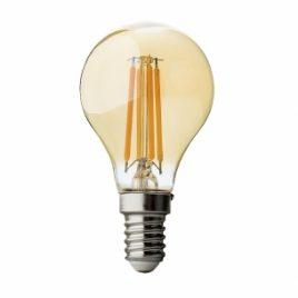 LED крушка FILAMENT, топче, димираща, опушена, E14, 220V, 2500K, 4W