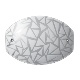 Аплик Витраж, бял мат, LED, 6W, 4000K