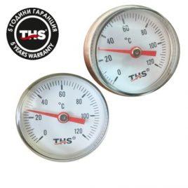 Термометър с метален корпус радиален ф38,  0-120гр.