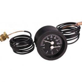 Термоманометър капилярен с клапан CEWAL, 0-6bar, 0-120гр