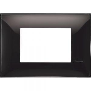 Декоративна рамка италиански стандарт 3 модула, черно
