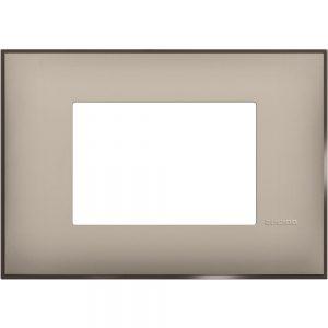 Декоративна рамка италиански стандарт 3 модула, крем сатен