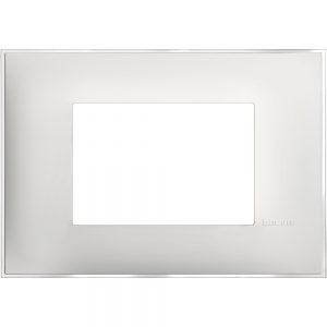 Декоративна рамка италиански стандарт 3 модула, леден сатен