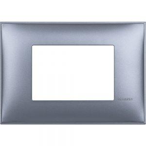 Декоративна рамка италиански стандарт 3 модула, син металик