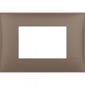 Декоративна рамка италиански стандарт 3 модула, кафяв мат