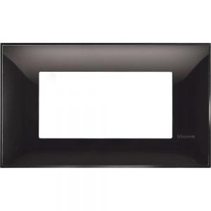 Декоративна рамка италиански стандарт 4 модула, черно