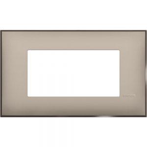 Декоративна рамка италиански стандарт 4 модула, крем сатен