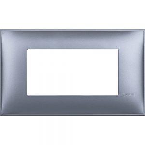 Декоративна рамка италиански стандарт 4 модула, син металик