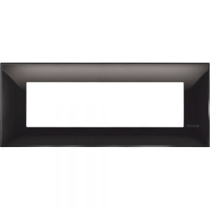 Декоративна рамка италиански стандарт 7 модула, черно