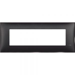 Декоративна рамка италиански стандарт 7 модула, черен сатен