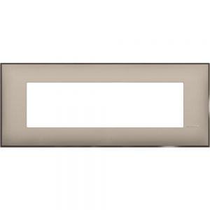 Декоративна рамка италиански стандарт 7 модула, крем сатен