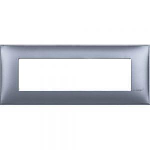 Декоративна рамка италиански стандарт 7 модула, син металик