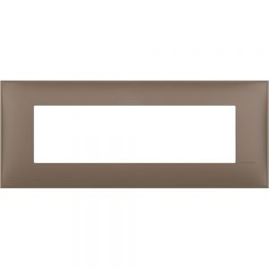 Декоративна рамка италиански стандарт 7 модула, кафяв мат