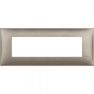 Декоративна рамка италиански стандарт 7 модула, титан