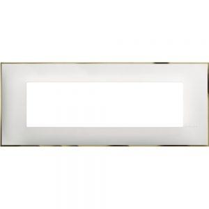 Декоративна рамка италиански стандарт 7 модула, бяло със златно