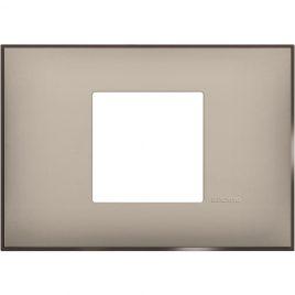 Декоративна рамка италиански стандарт 2 модула, крем сатен