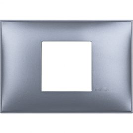 Декоративна рамка италиански стандарт 2 модула, син металик
