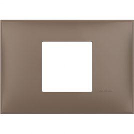 Декоративна рамка италиански стандарт 2 модула, кафяв мат