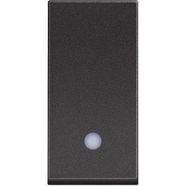 Девиаторен ключ сх.6 с LED индикация, 1модул, черен