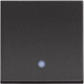 Девиаторен ключ сх.6 с LED индикация, 2модула, черен