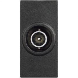 TV крайна розетка за коаксиален кабел, 10dB , 1модул, черен