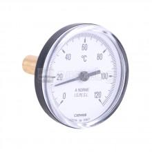 Термометър потопяем пластмасов CEWAL, ф63, 0-120гр