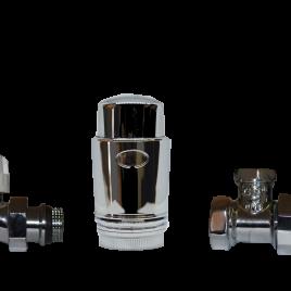Радиаторен сет CAYMAN-3 CHROME  прав 1/2″