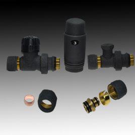 Радиаторен сет CAYMAN-5  BLACK прав ф16 х 1/2″