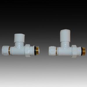Радиаторен сет LUX DUO WHITE прав 1/2″ х 16мм